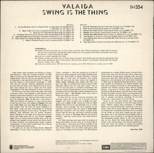 Valaida Snow Swing Is The Thing vinyl LP album (LP record) UK VLWLPSW731569