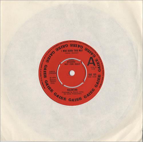 "Valentino I Was Born This Way 7"" vinyl single (7 inch record) UK VTO07IW478828"