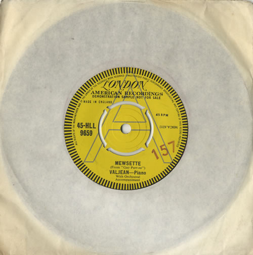 "Valjean Mewsette 7"" vinyl single (7 inch record) UK VLJ07ME474188"