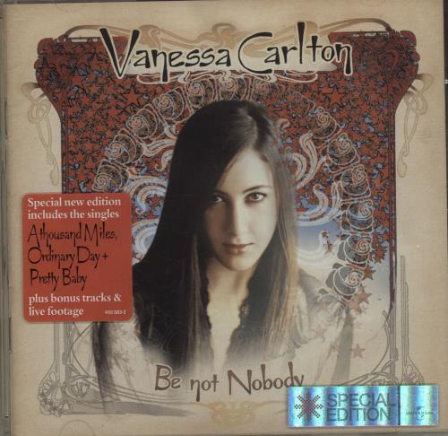 Vanessa Carlton Be Not Nobody CD album (CDLP) UK VNCCDBE232709