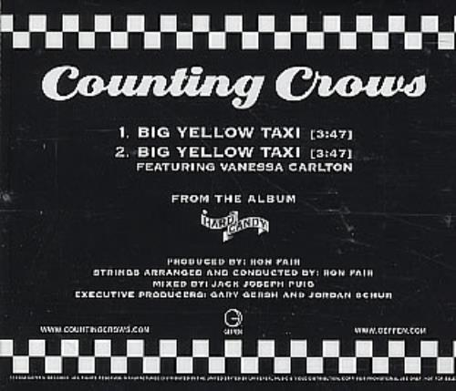 "Vanessa Carlton Big Yellow Taxi CD single (CD5 / 5"") US VNCC5BI230574"