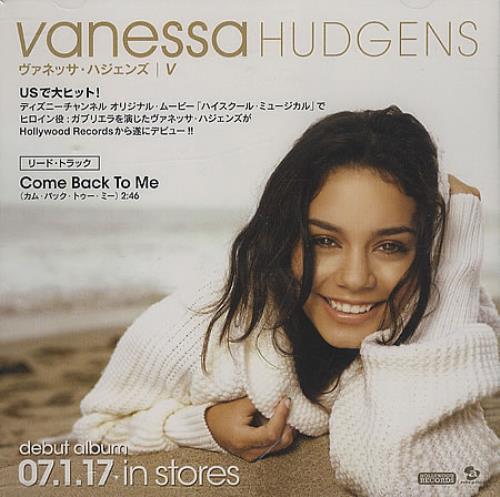 Vanessa Hudgens Come Back To Me DVD Single Japanese VHGDSCO395395