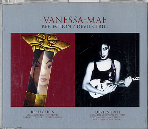 "Vanessa Mae Reflection / Devil's Trill CD single (CD5 / 5"") Dutch VMAC5RE629670"