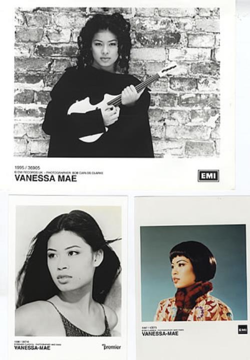 Vanessa Mae Set Of 3 Publicity Photographs photograph UK VMAPHSE312414