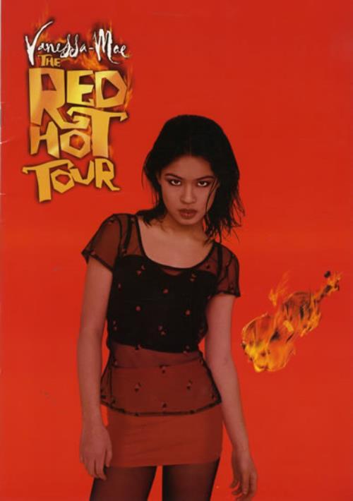 Vanessa Mae The Red Hot Tour tour programme UK VMATRTH561584