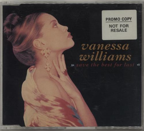 """Vanessa Williams Save The Best For Last - Promo stickered CD single (CD5 / 5"""") UK VNWC5SA680460"""