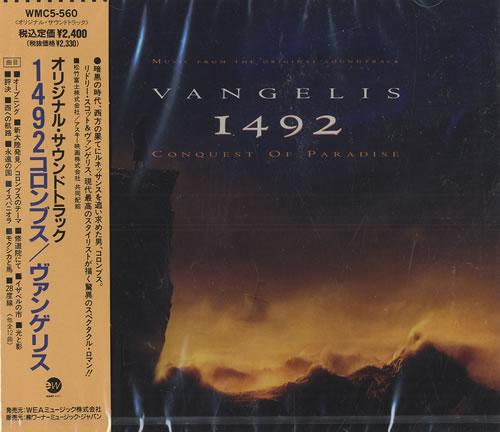 Vangelis 1492 Conquest Of Paradise CD album (CDLP) Japanese VGECDCO475545