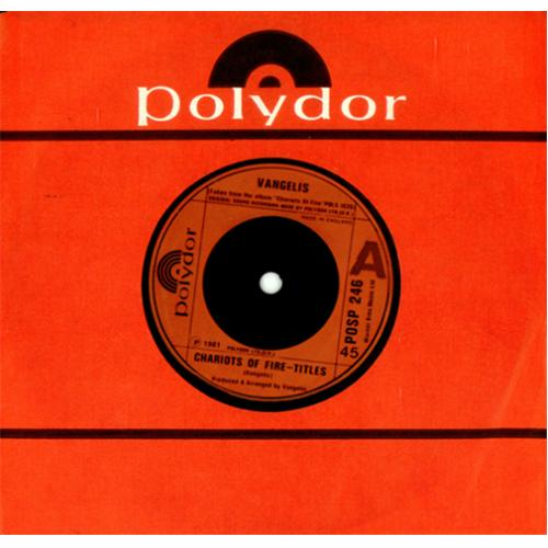 """Vangelis Chariots Of Fire - Titles - Red injection 7"""" vinyl single (7 inch record) UK VGE07CH421137"""