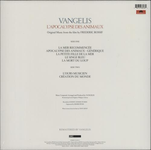 Vangelis L'apocalypse Des Animaux + Hype Sticker - 180g vinyl LP album (LP record) UK VGELPLA763965