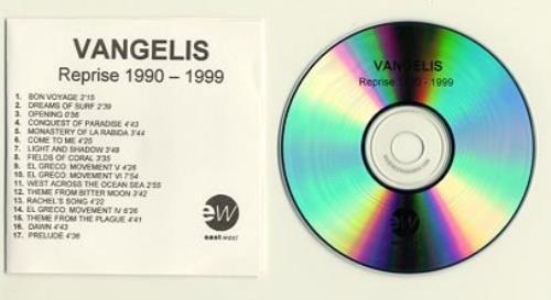Vangelis Reprise 1990 - 1999 CD-R acetate UK VGECRRE145790