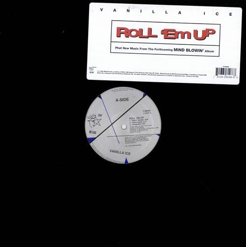 "Vanilla Ice Roll 'Em Up 12"" vinyl single (12 inch record / Maxi-single) US VCE12RO476204"