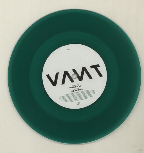 "Vant Parking Lot - Green Vinyl 7"" vinyl single (7 inch record) UK YBP07PA680665"