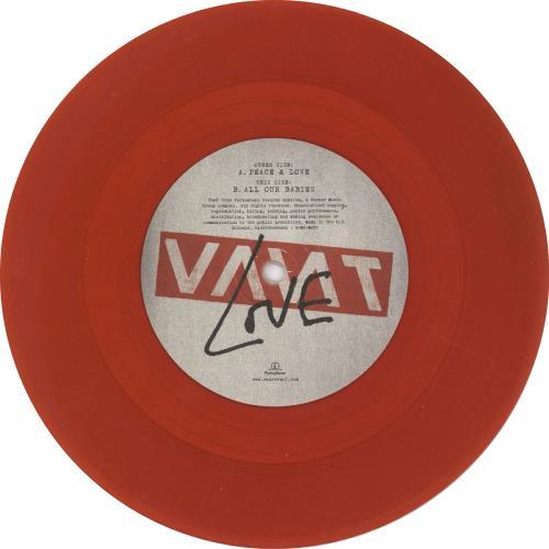 "Vant Peace & Love - Red Vinyl + Autographed Sleeve 7"" vinyl single (7 inch record) UK YBP07PE676961"