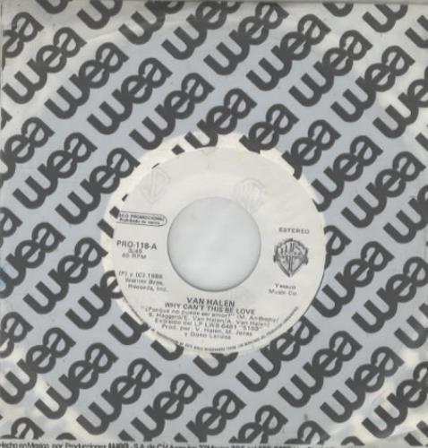 """Van Halen ¿Porque No Puede Se Amor? 7"""" vinyl single (7 inch record) Mexican VNH07PO343412"""
