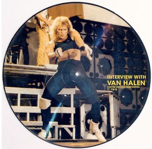 Van Halen Interview With Van Halen picture disc LP (vinyl picture disc album) UK VNHPDIN419243