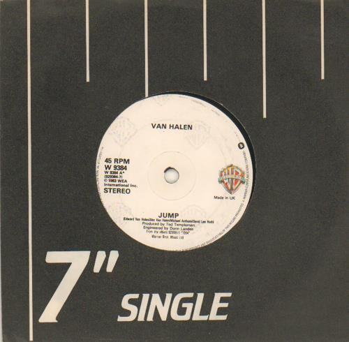 "Van Halen Jump 7"" vinyl single (7 inch record) UK VNH07JU658092"