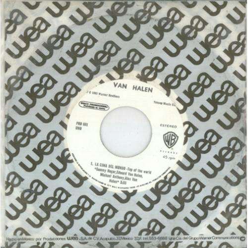 "Van Halen La Cima Del Mundo - Top Of The World 7"" vinyl single (7 inch record) Mexican VNH07LA425115"