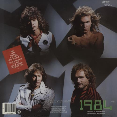 Van Halen MCMLXXXIV - Hype Stickered on rear vinyl LP album (LP record) German VNHLPMC756776