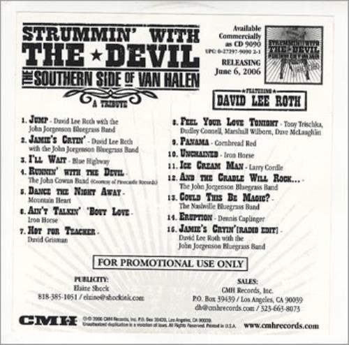 Van Halen Strummin' With The Devil - The Southern Side Of Van Halen CD-R acetate US VNHCRST364057