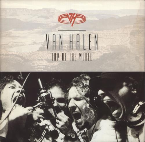 "Van Halen Top Of The World 12"" vinyl single (12 inch record / Maxi-single) UK VNH12TO718695"