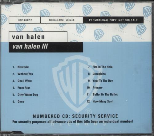 Van Halen Van Halen III CD album (CDLP) German VNHCDVA108622