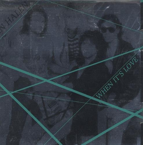 "Van Halen When It's Love - Silver Fold-out Sleeve 7"" vinyl single (7 inch record) UK VNH07WH47308"