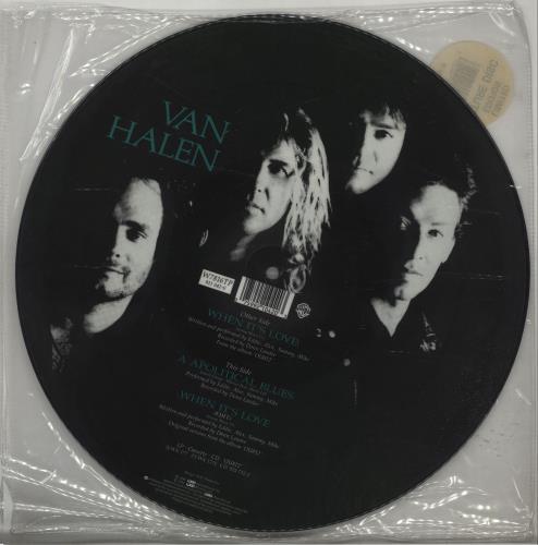 "Van Halen When It's Love 12"" vinyl picture disc 12inch picture disc record UK VNH2PWH37169"