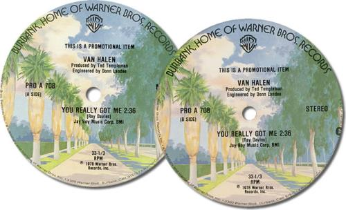 """Van Halen You Really Got Me 12"""" vinyl single (12 inch record / Maxi-single) US VNH12YO420346"""