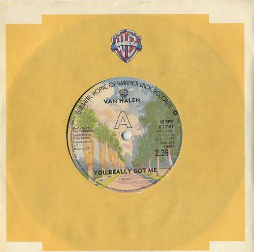 """Van Halen You Really Got Me 7"""" vinyl single (7 inch record) UK VNH07YO448018"""