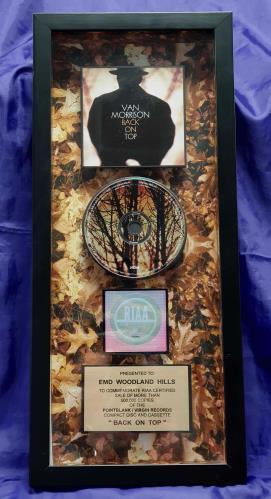 Van Morrison Back On Top award disc US VMOAWBA312126
