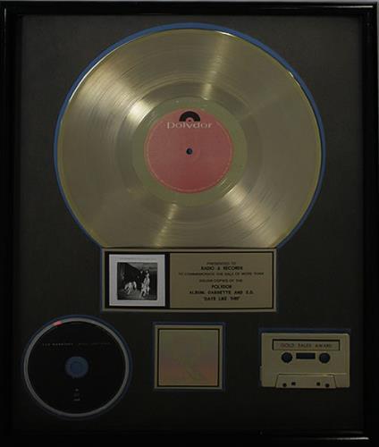 Van Morrison Days Like This award disc US VMOAWDA491008