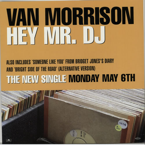 Van Morrison Down The Road / Hey Mr. DJ - Displays display UK VMODIDO632085