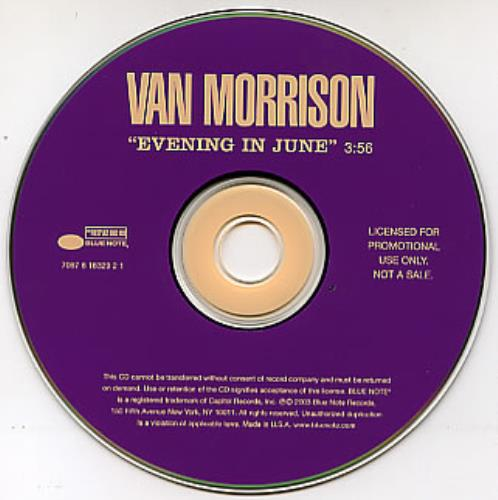 "Van Morrison Evening In June CD single (CD5 / 5"") US VMOC5EV285572"