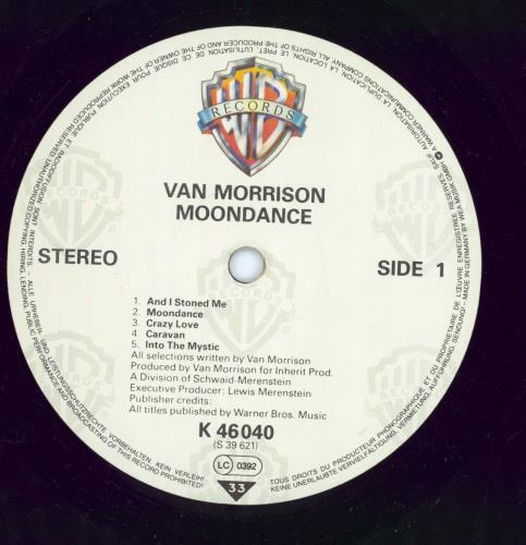 Van Morrison Moondance - 1980s vinyl LP album (LP record) German VMOLPMO768580
