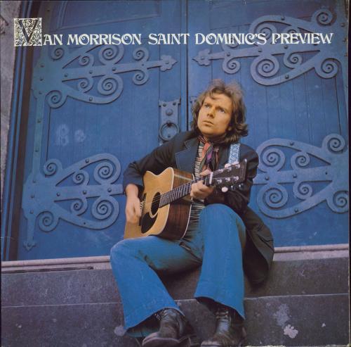 Van Morrison Saint Dominic's Preview - white WB Sheild label vinyl LP album (LP record) UK VMOLPSA768578
