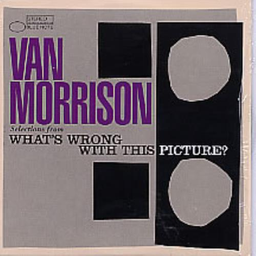 """Van Morrison Selections From What's Wrong With This Picture? CD single (CD5 / 5"""") US VMOC5SE262989"""