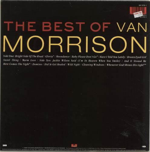 Van Morrison The Best Of Van Morrison - Hebrew Hype Stickered vinyl LP album (LP record) Dutch VMOLPTH694910