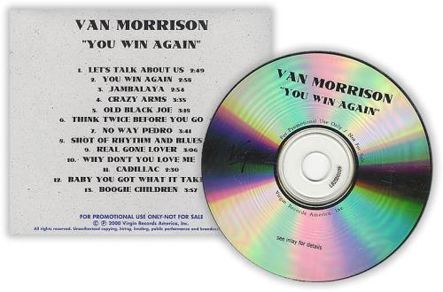 Van Morrison You Win Again CD-R acetate US VMOCRYO190782