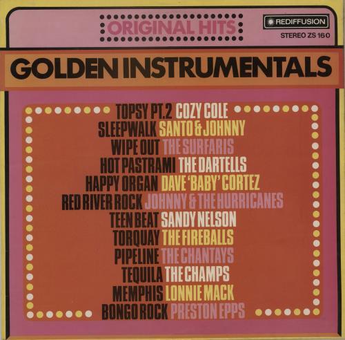 Various-50s/Rock & Roll/Rockabilly Golden Instrumentals vinyl LP album (LP record) UK 50VLPGO753349