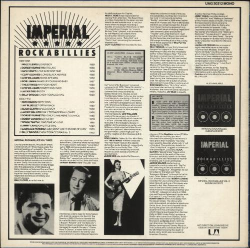 Various-50s/Rock & Roll/Rockabilly Imperial Rockabillies Volume Three vinyl LP album (LP record) UK 50VLPIM729577