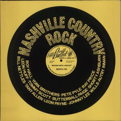 Various-50s/Rock & Roll/Rockabilly Nashville Country Rock - Boogie With A Bullet vinyl LP album (LP record) Dutch 50VLPNA708896