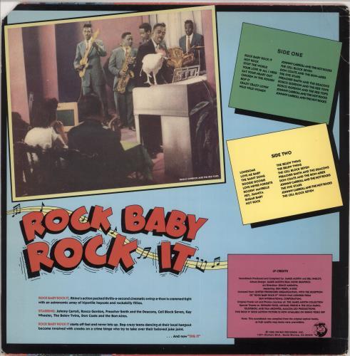 Various-50s/Rock & Roll/Rockabilly Rock Baby Rock It - Deletion cut vinyl LP album (LP record) US 50VLPRO729552