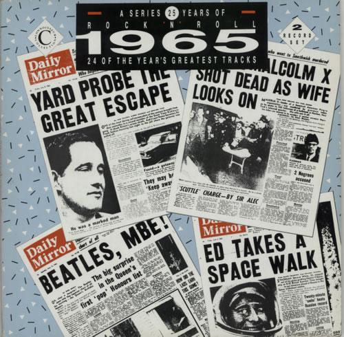 Various-60s & 70s 25 Years Of Rock N Roll - 1965 UK 2-LP vinyl