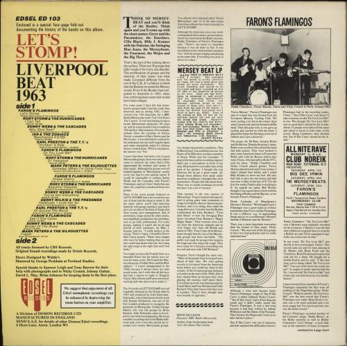 Various-60s & 70s Let's Stomp! Liverpool Beat 1963 vinyl LP album (LP record) UK SVALPLE765118