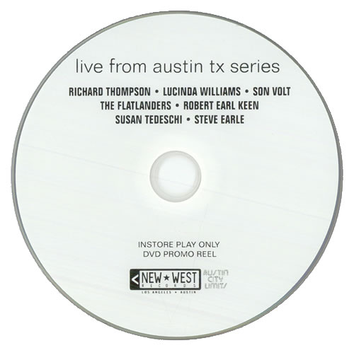 Various-60s & 70s Live From Austin TX Series DVD US SVADDLI509868