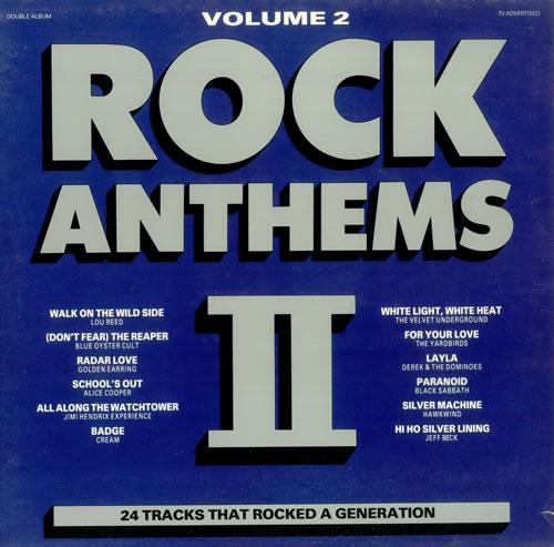 Various 60s Amp 70s Rock Anthems Volume 2 Uk 2 Lp Vinyl