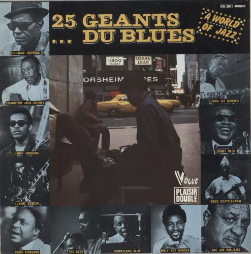 Various-Blues & Gospel 25 Géants... Du Blues 2-LP vinyl record set (Double Album) French V-B2LGA720402