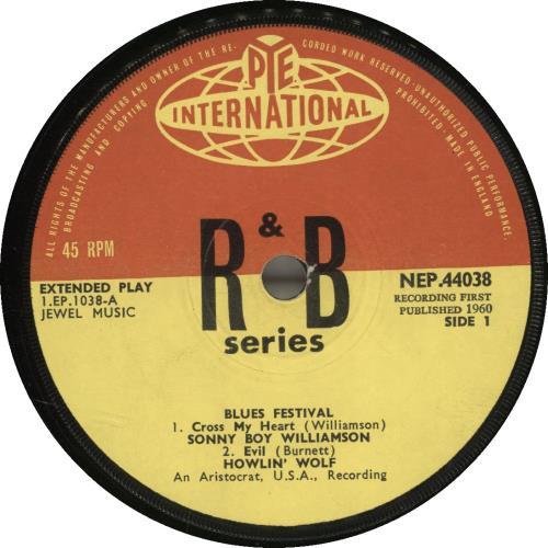 "Various-Blues & Gospel Blues Festival 7"" vinyl single (7 inch record) UK V-B07BL609472"