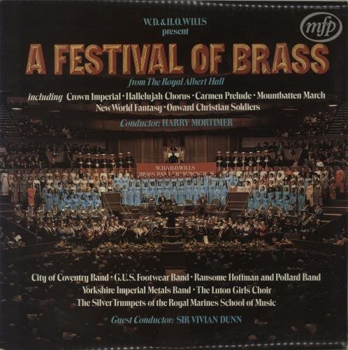 Various-Brass Bands A Festival Of Brass vinyl LP album (LP record) UK VB8LPAF458634
