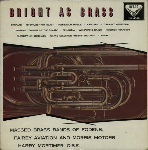 Various-Brass Bands Bright As Brass vinyl LP album (LP record) UK VB8LPBR653779
